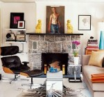 Eames Recliner chair in living room via ELLE DECOR