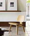 Eames Walnut Wood Veneer Finish Lounge Chair for Herman Miller
