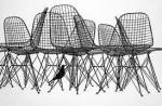 Iconic Wire chairs by Eames