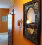 Create a cozy, luxurious and inviting bedroom & consider incorporating reds, oranges and earth tone colors in your design