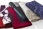 Give a room some depth & color by utilizing beautiful textile fabrics in your decor