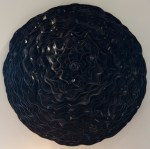 Federico Uribe 'Dark Side Of The Moon' wall hung sculpture using vinyl