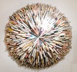 Federico Uribe 'Smart Arse' wall hung sculpture using 200 second hand books