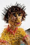 Federico Uribe 'Boy' Sculpture using colored pencils