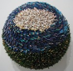 Federico Uribe Sculpture using colored pencils