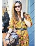Street Style: Boho 70s-style paisley bohemian dress