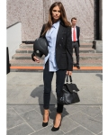 Street Style: Tailored shirt & prim pumps