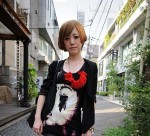 Japan Street Style: I adore the red necklace!