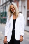 Street Style: White tuxedo Jacket