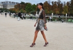 Giovanna Battaglia: Wearing a zebra print dress