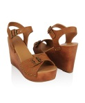 24Buckled Leatherette Wedges $26.80 @ Forever21