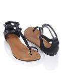 36Tanaya Leatherette Sandals $14.80 @ Forever21