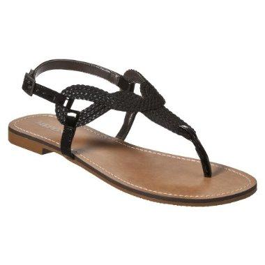 42ea5ff88eb3 Women's Merona® Emeline Braided Flat Sandals – Black ...