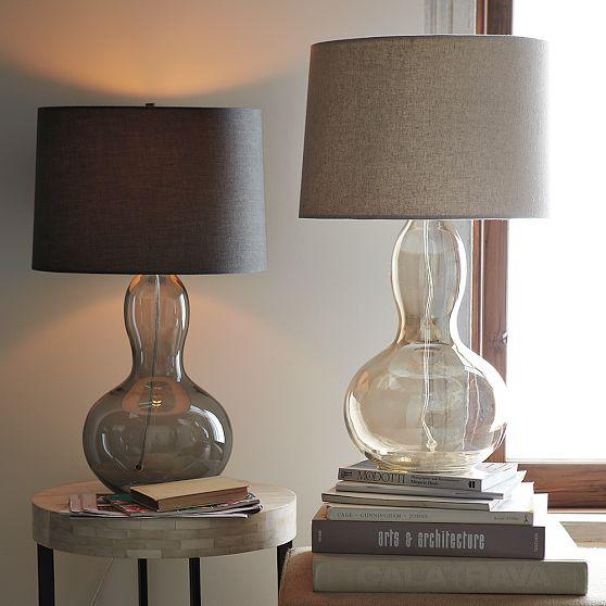 The gourd table lamp available with either a charcoal tinted glass sabor magazine aloadofball Images