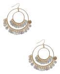 65Double Drama Hoop Earrings Cream Gold $4.80 @ Forever21