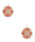 67Opaque Beaded Circle Earrings $5.80 @ Forever21