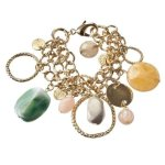 71Triple Chain With Stones Bracelet - Gold $24.99 @ Target