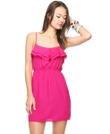 Woven Ruffle Dress $12.50 @ Forever21
