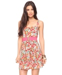 Flowery Dress with Belt $19.80 @ Forever21