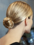 Buns & Ponies: A smooth, glossy crown and tight twist or tail are goofproof and look polished and pulled together