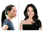 Keep it frizz-free, like Lucy Liu's night bend just your ends with a big iron to fancify