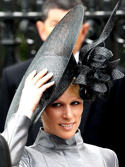 zara phillips hat. Zara Phillips wearing an