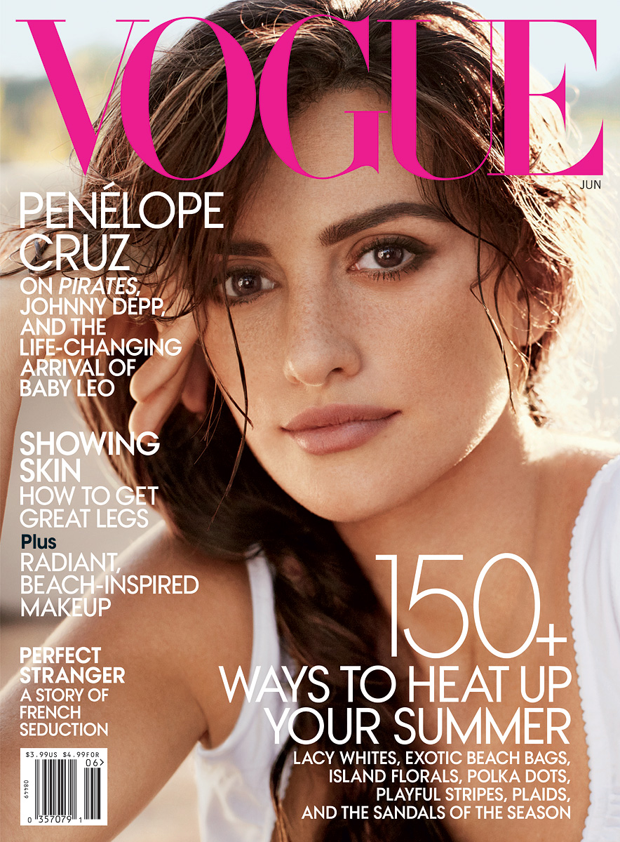 on cover Cruz June look  of natural VOGUE Issue vogue Penélope makeup the Magazine